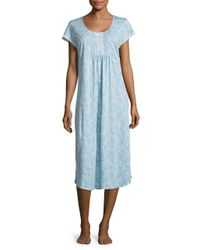 Miss Elaine | Blue ??aisley Cotton-blend Nightgown | Lyst