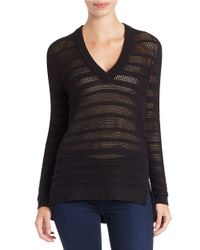 MICHAEL Michael Kors | Black Knit V-neck Sweater | Lyst