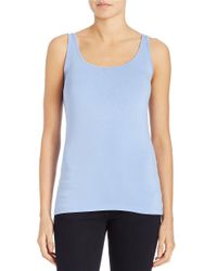 Lord & Taylor | Blue Petite Iconic Fit Tank Top | Lyst