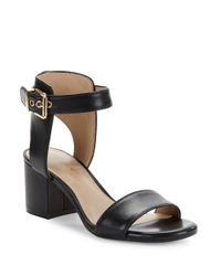 424 Fifth | Natural Harriet Leather Open Toe Sandals | Lyst