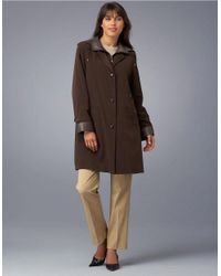 Gallery | Black Petite Quilted Walker Coat | Lyst