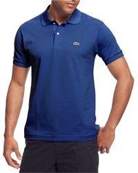 Lacoste | Blue Pique Cotton Polo Shirt for Men | Lyst