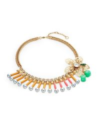 Gerard Yosca | Multicolor Floral Beaded Statement Necklace | Lyst