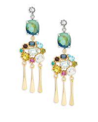 Gerard Yosca - Multicolor Colorful Cluster Drop Earrings - Lyst