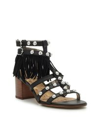 Sam Edelman | Black Shaelynn Leather Sandals | Lyst