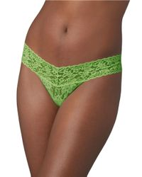 Hanky Panky - Green Low Rise Lace Thong - Lyst