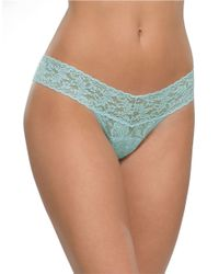 Hanky Panky | Blue Low-rise Lace Thong | Lyst