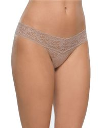 Hanky Panky - Brown Low Rise Hipster Thong - Lyst