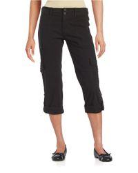 Sanctuary | Black Cotton-stretch Cargo Pants | Lyst
