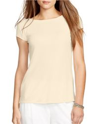 Lauren by Ralph Lauren | Blue Short-sleeve Knit Tee | Lyst