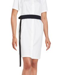 DKNY | White Padded Adjustable Belt | Lyst
