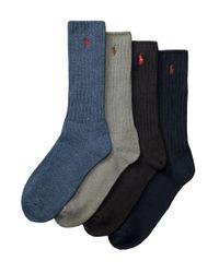 Polo Ralph Lauren | Blue Classic Crew Socks for Men | Lyst