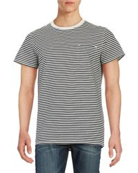 SELECTED | Blue Striped Pocket Tee for Men | Lyst
