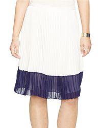 Lauren by Ralph Lauren   Blue Colorblocked Pleated Skirt   Lyst