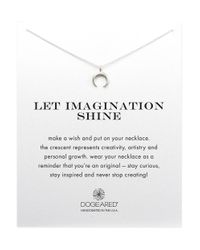 Dogeared | Metallic I Love You To The Moon and Back Pendant Necklace 18 | Lyst