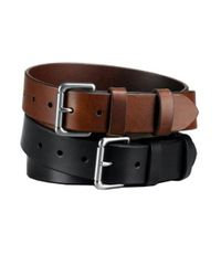 Polo Ralph Lauren - Black Officer Leather Belt for Men - Lyst