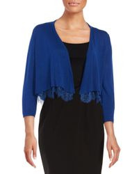 Tommy Hilfiger - Blue Lace-hemmed Cardigan - Lyst