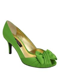 Nina - Green Forbes Satin Pumps - Lyst