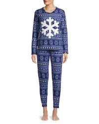 Roudelain - Blue Three-piece Tree Trim Holiday Pajamas Set - Lyst
