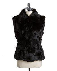 Surell   Black Rabbit Fur Vest   Lyst