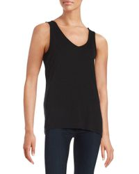 Lord & Taylor | Black Knit Tank Top | Lyst