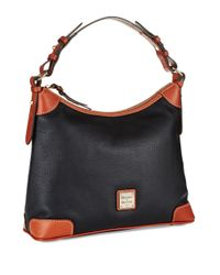 Dooney & Bourke - Black Pebbled Leather Hobo Bag - Lyst