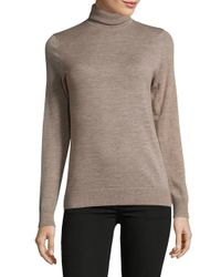 Lord & Taylor - Gray Wool Sweatshirt - Lyst