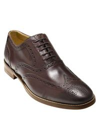 Cole Haan - Brown Cambridge Leather Wingtip Oxfords for Men - Lyst