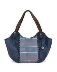 The Sak - Blue Indio Leather Satchel - Lyst