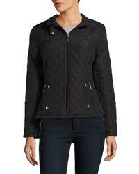 Weatherproof | Black Diamond Quilted Raglan Seam Jacket | Lyst