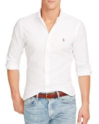 Polo Ralph Lauren   White Slim-fit Sportshirt for Men   Lyst