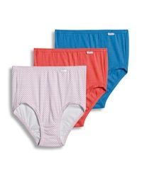 Jockey - Multicolor Elance Brief - 3 Pack for Men - Lyst