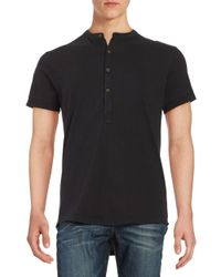 Laboratory Lt Man - Black Cotton Henley Tee for Men - Lyst