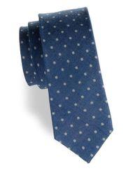 Tallia Orange - Blue Dotted Tie for Men - Lyst