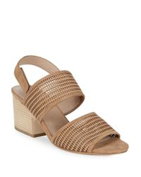 Eileen Fisher - Natural Finn Leather Slingback Sandals - Lyst