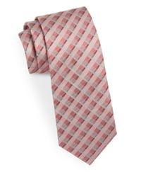 Calvin Klein - Pink Narrow Silk Tie for Men - Lyst
