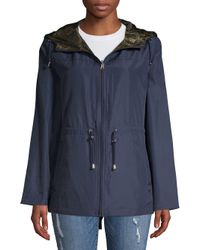 Jones New York - Blue Reversible Packable Jacket - Lyst