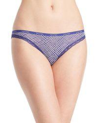 Calvin Klein - Blue Bottoms Up Bikini Panties - Lyst