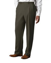 Lauren by Ralph Lauren | Green Wool-cashmere-blend Cuffed Pants for Men | Lyst