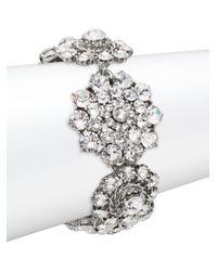 Oscar de la Renta - Multicolor Floral Crystal Toggle Bracelet - Lyst