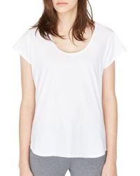 Ugg - White Solid Cotton Tee - Lyst