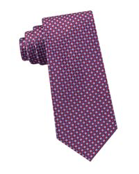 Michael Kors - Red Checkerboard Gingham Silk Tie for Men - Lyst