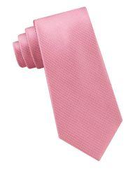 Michael Kors - Pink Satin Micro Pindot Silk Tie for Men - Lyst