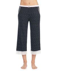Kensie - Blue Printed Capri Pajama Pants - Lyst
