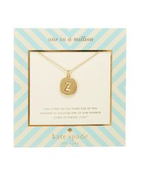 Kate Spade - Metallic One In A Million Letter Pendant Necklace - Lyst
