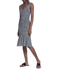Tracy Reese | Black Animal-print Sleeveless Dress | Lyst