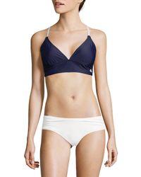 Adidas - Blue Crisscross Tie Triangle Bikini Top - Lyst