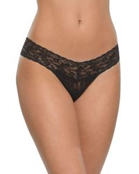 Hanky Panky | Black Low-rise Lace Thong | Lyst