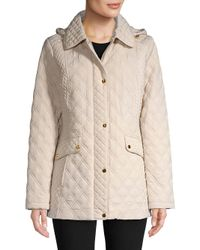 Jones New York - Natural Quilted Long-sleeve Jacket - Lyst