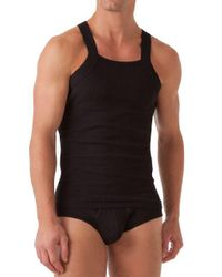 2xist   Black Ribbed Square-cut Tank for Men   Lyst
